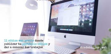 11 sitios web gratis donde publicar tu portfolio online y dar a conocer tus trabajos
